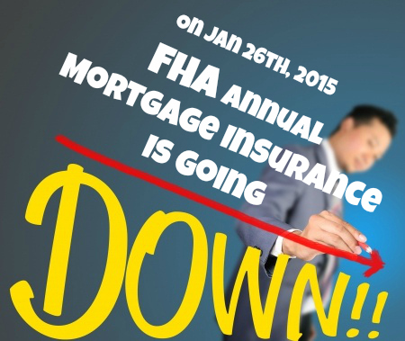 FHA Mortgage Insurance is Going Down